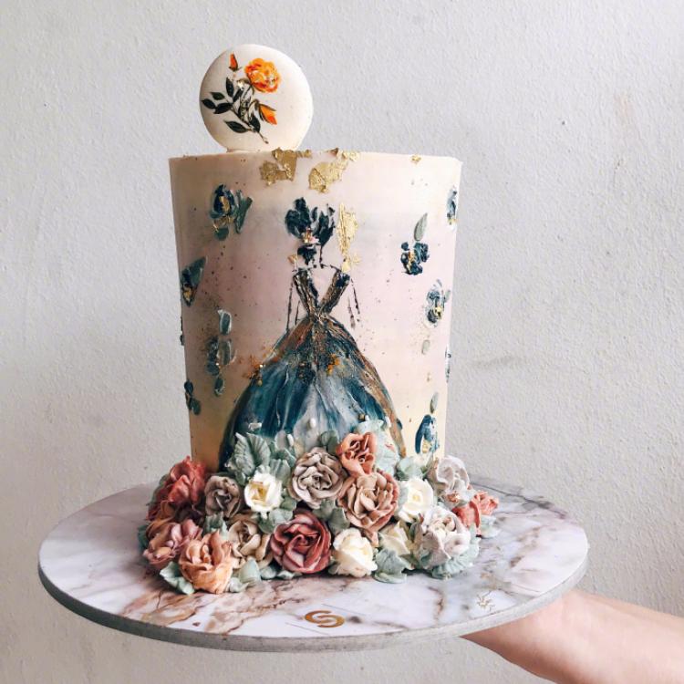 现在都流行鲜花蛋糕~ 